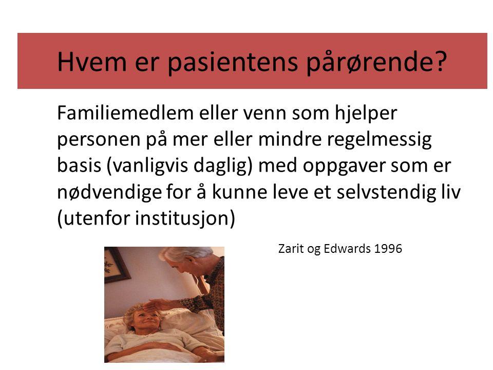 Hvem er pasientens pårørende