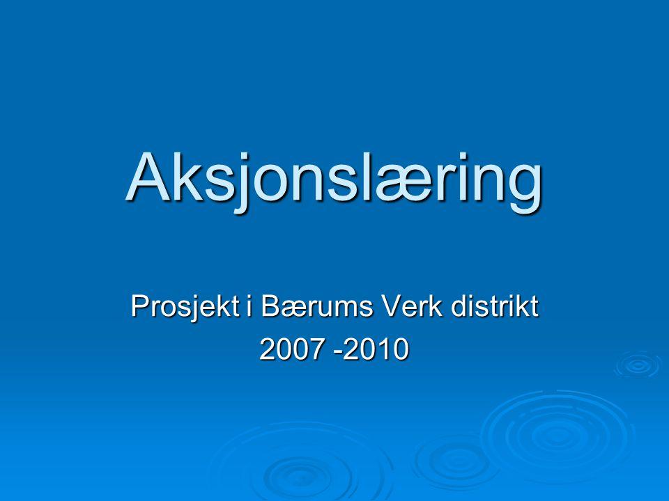 Prosjekt i Bærums Verk distrikt 2007 -2010