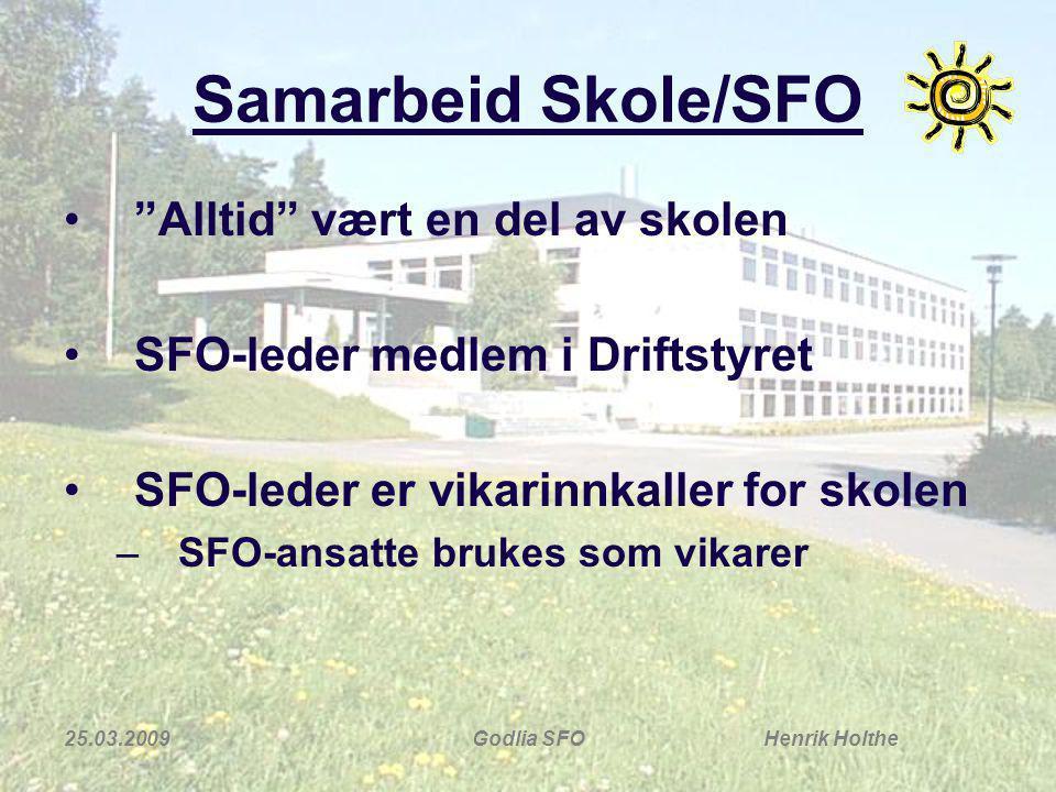 Samarbeid Skole/SFO Alltid vært en del av skolen