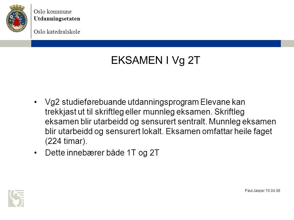 EKSAMEN I Vg 2T