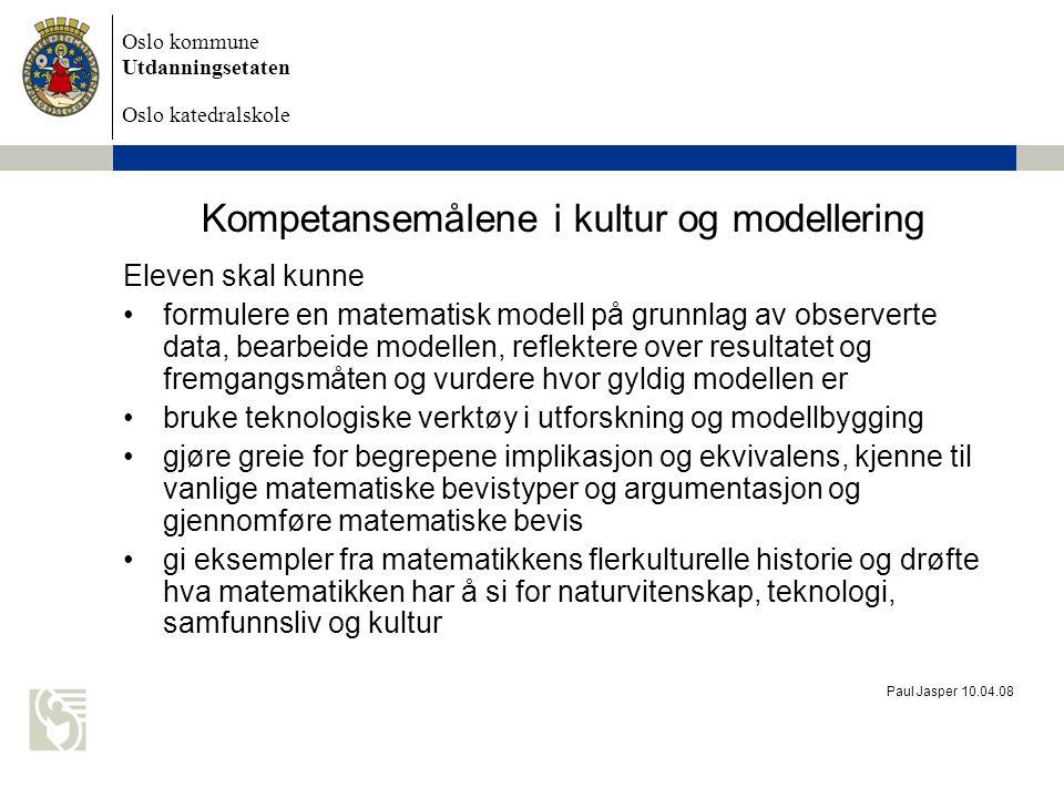 Kompetansemålene i kultur og modellering