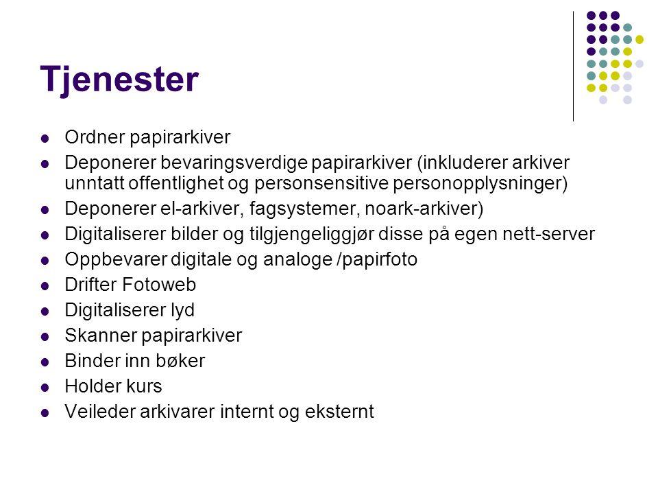 Tjenester Ordner papirarkiver