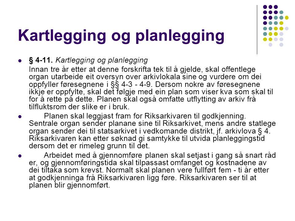 Kartlegging og planlegging