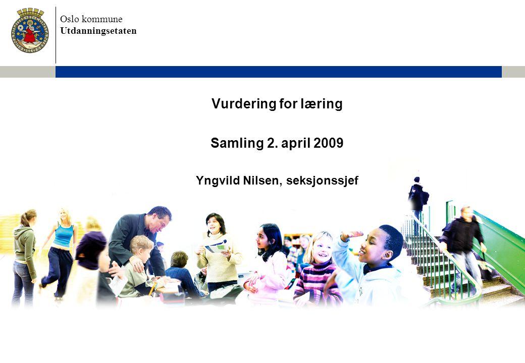 Samling 2. april 2009 Yngvild Nilsen, seksjonssjef