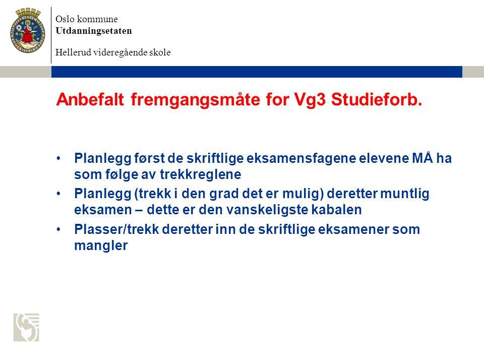 Anbefalt fremgangsmåte for Vg3 Studieforb.