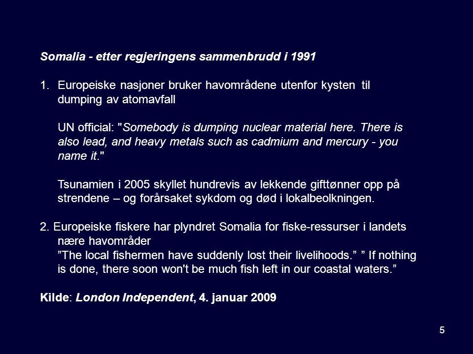 Somalia - etter regjeringens sammenbrudd i 1991