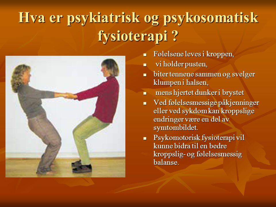 Hva er psykiatrisk og psykosomatisk fysioterapi