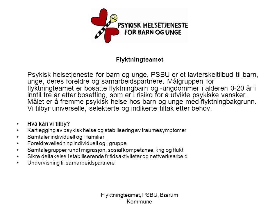 Flyktningteamet, PSBU, Bærum Kommune