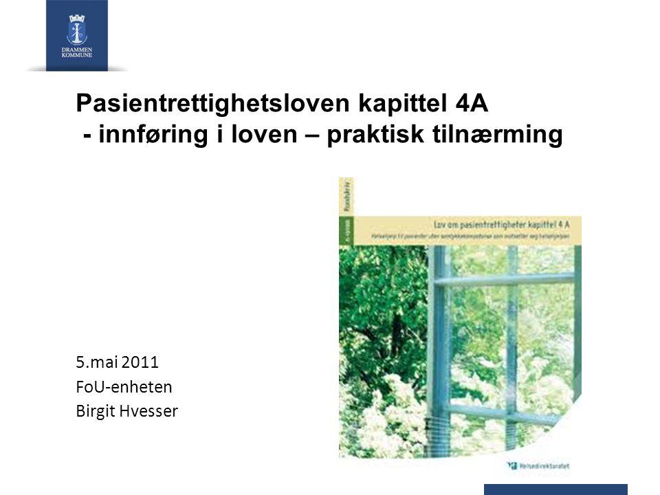 5.mai 2011 FoU-enheten Birgit Hvesser