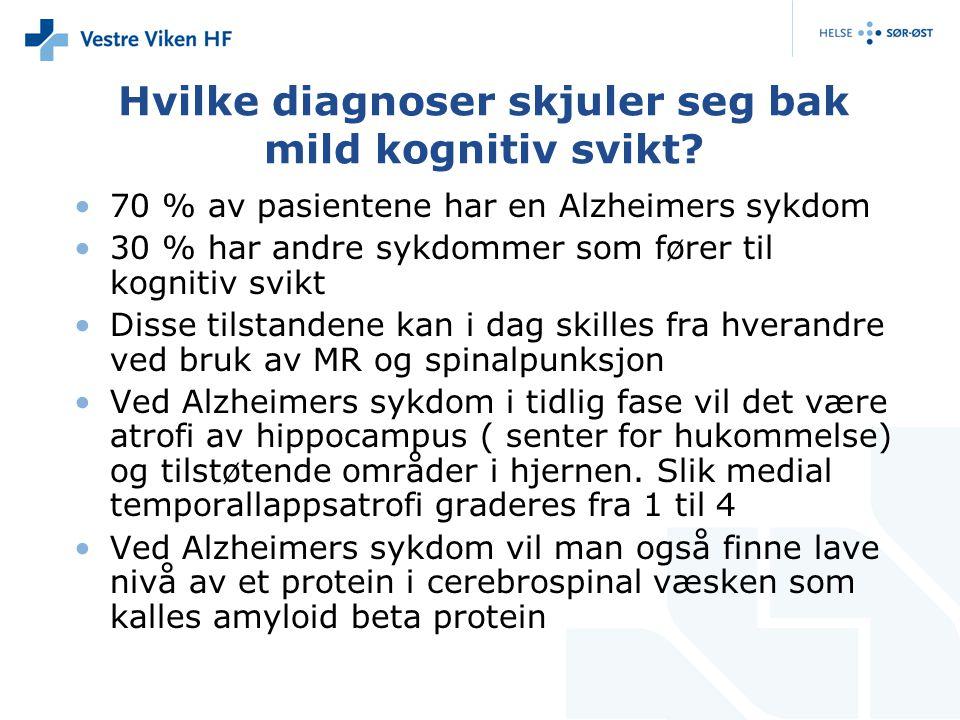 Hvilke diagnoser skjuler seg bak mild kognitiv svikt