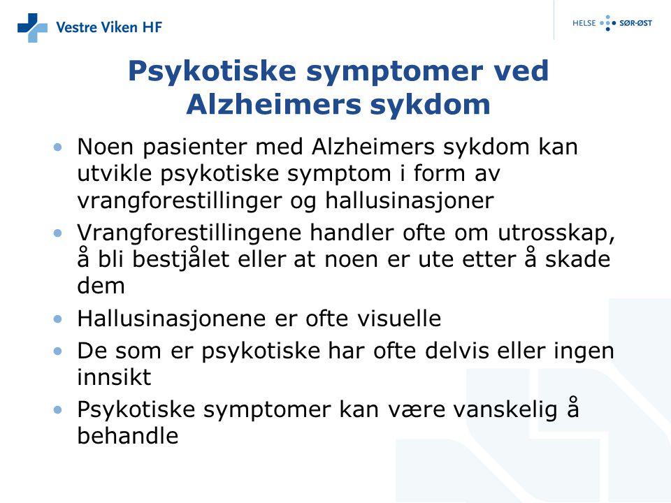 Psykotiske symptomer ved Alzheimers sykdom