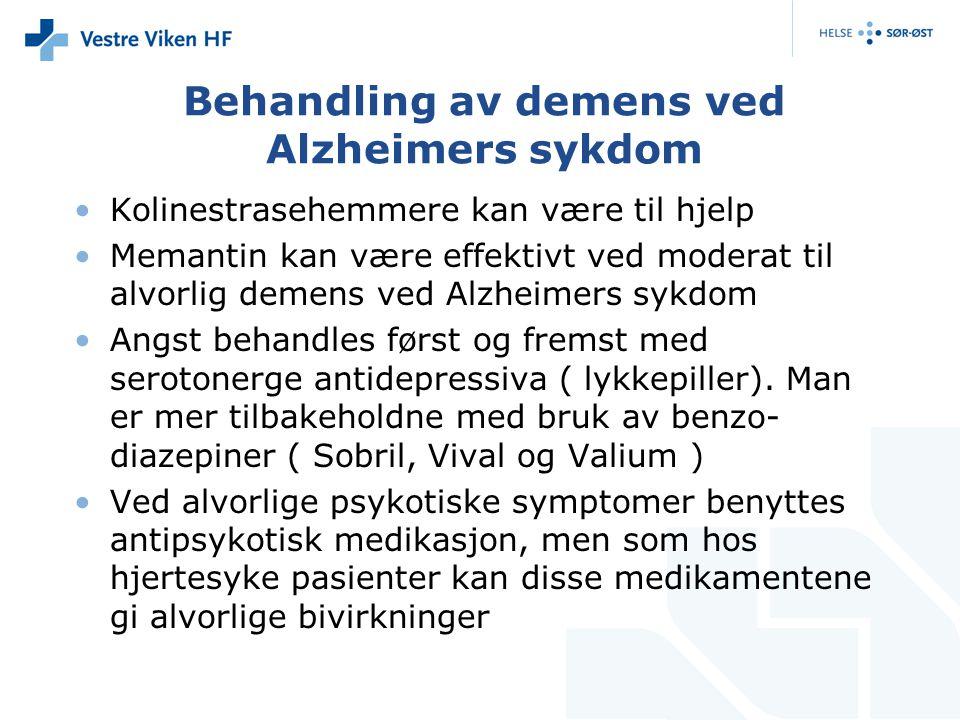 Behandling av demens ved Alzheimers sykdom
