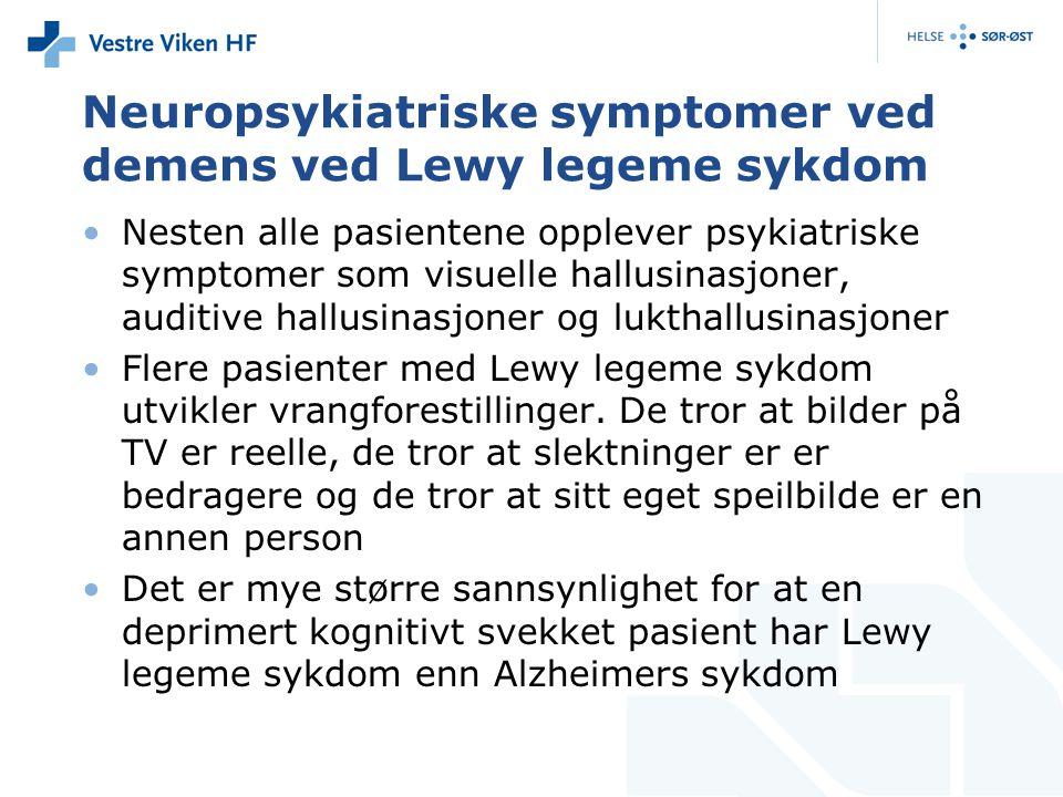 Neuropsykiatriske symptomer ved demens ved Lewy legeme sykdom