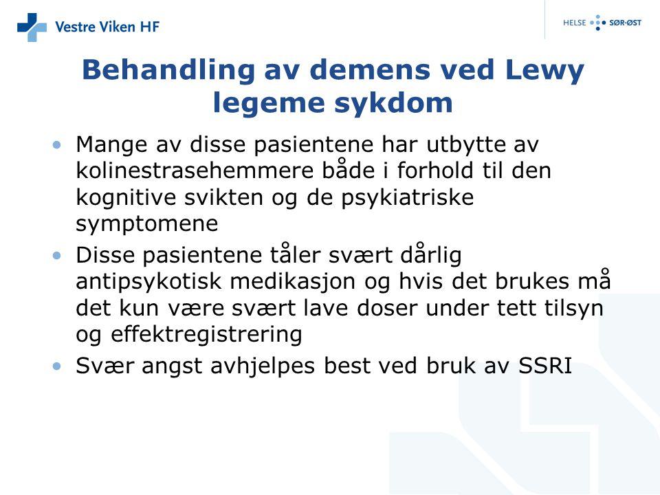 Behandling av demens ved Lewy legeme sykdom