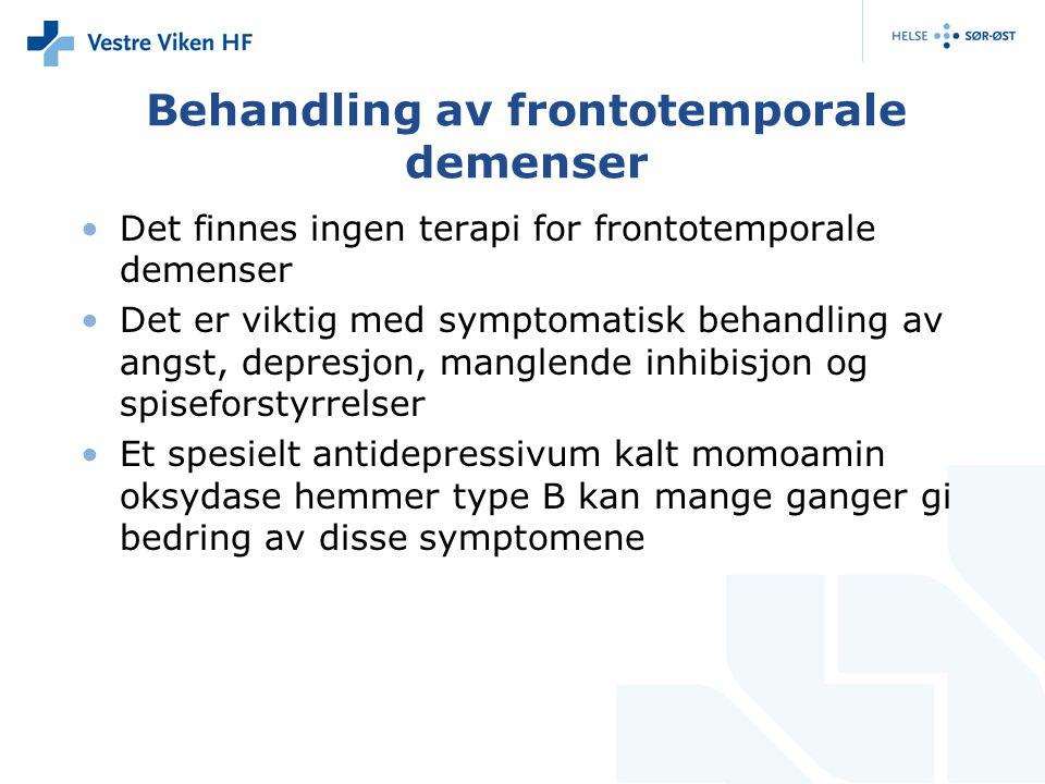 Behandling av frontotemporale demenser