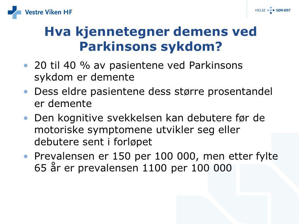 Hva kjennetegner demens ved Parkinsons sykdom