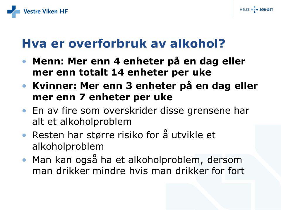 Hva er overforbruk av alkohol