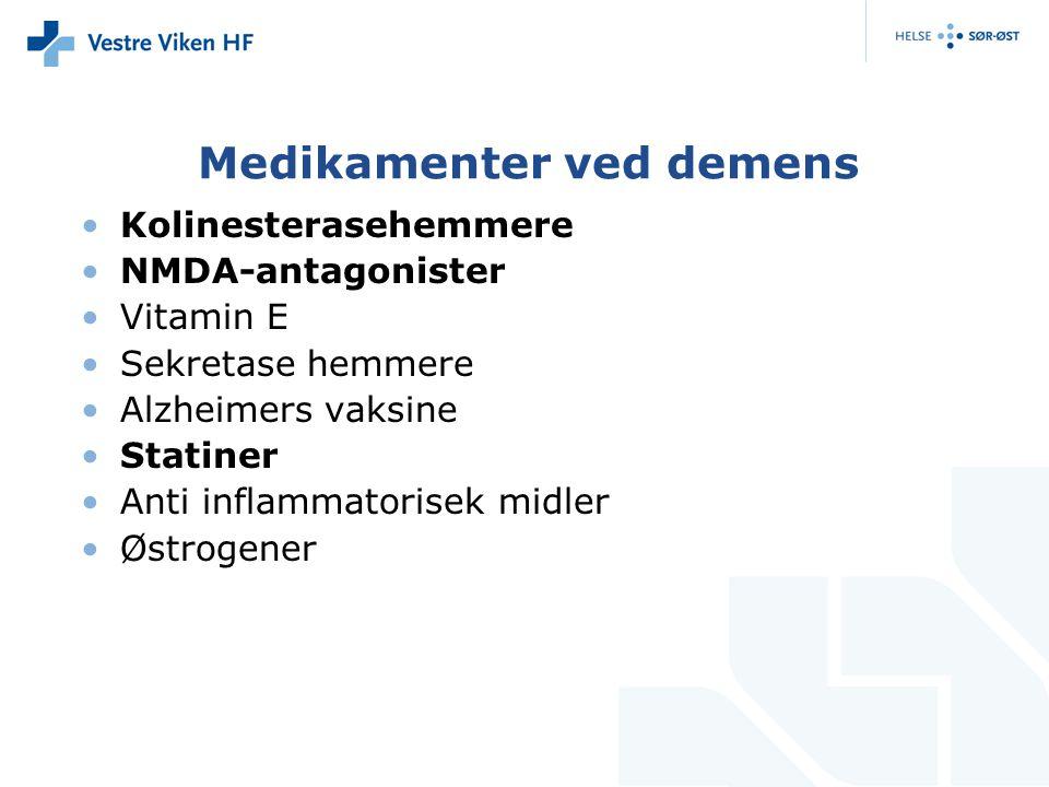Medikamenter ved demens