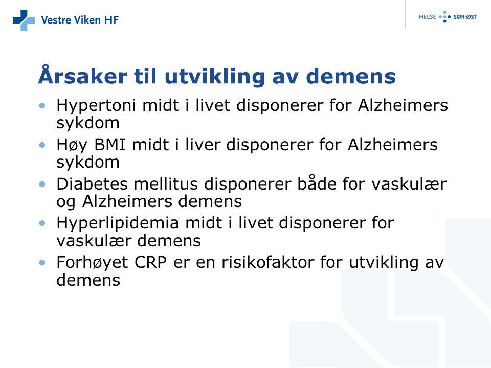 Årsaker til utvikling av demens