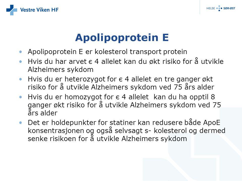Apolipoprotein E Apolipoprotein E er kolesterol transport protein