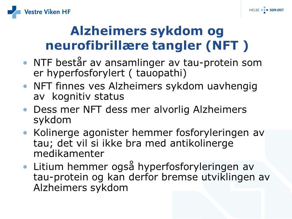 Alzheimers sykdom og neurofibrillære tangler (NFT )