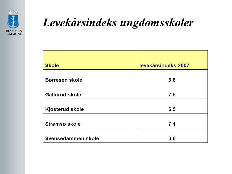 Levekårsindeks ungdomsskoler