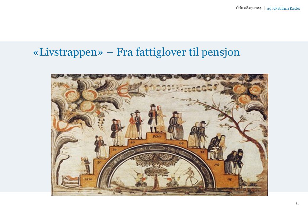 «Livstrappen» – Fra fattiglover til pensjon