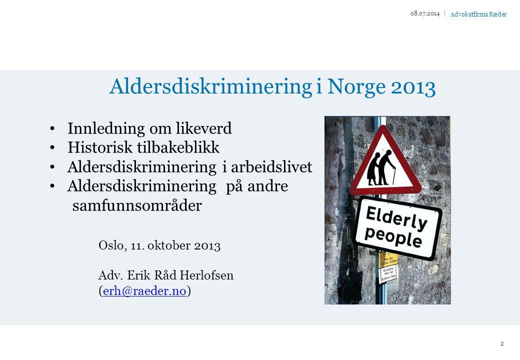Aldersdiskriminering i Norge 2013