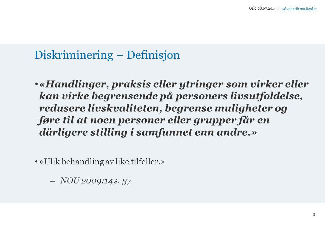 Diskriminering – Definisjon