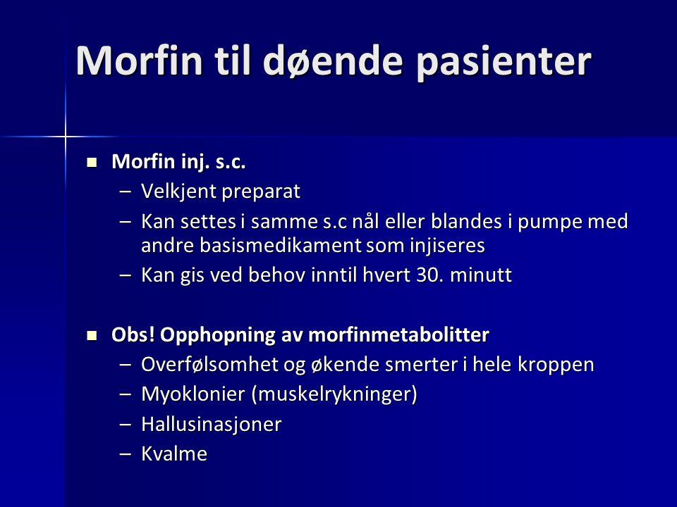 Morfin til døende pasienter