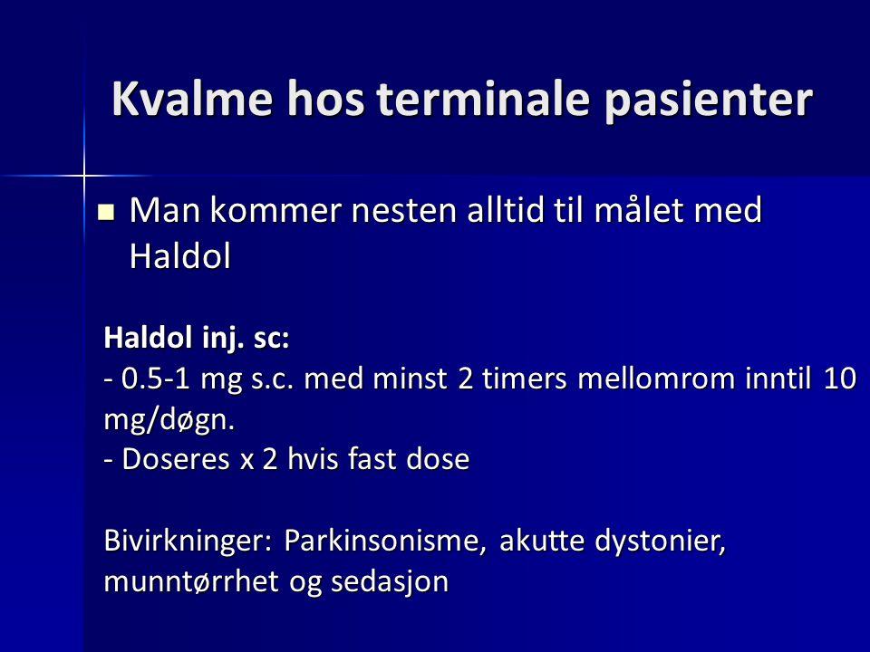 Kvalme hos terminale pasienter