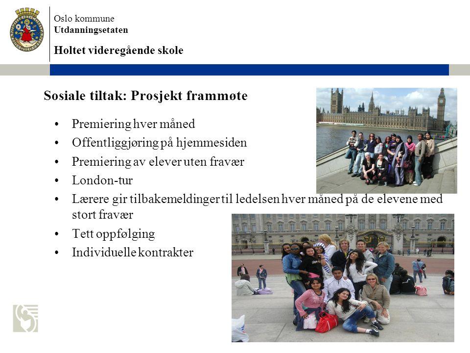 Sosiale tiltak: Prosjekt frammøte