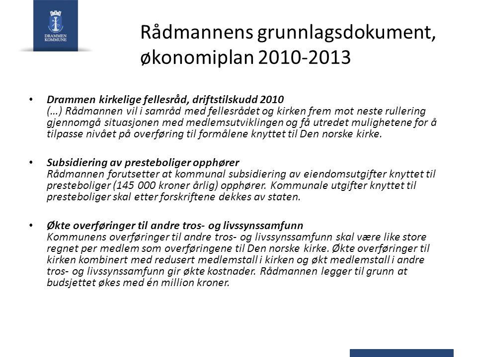 Rådmannens grunnlagsdokument, økonomiplan 2010-2013