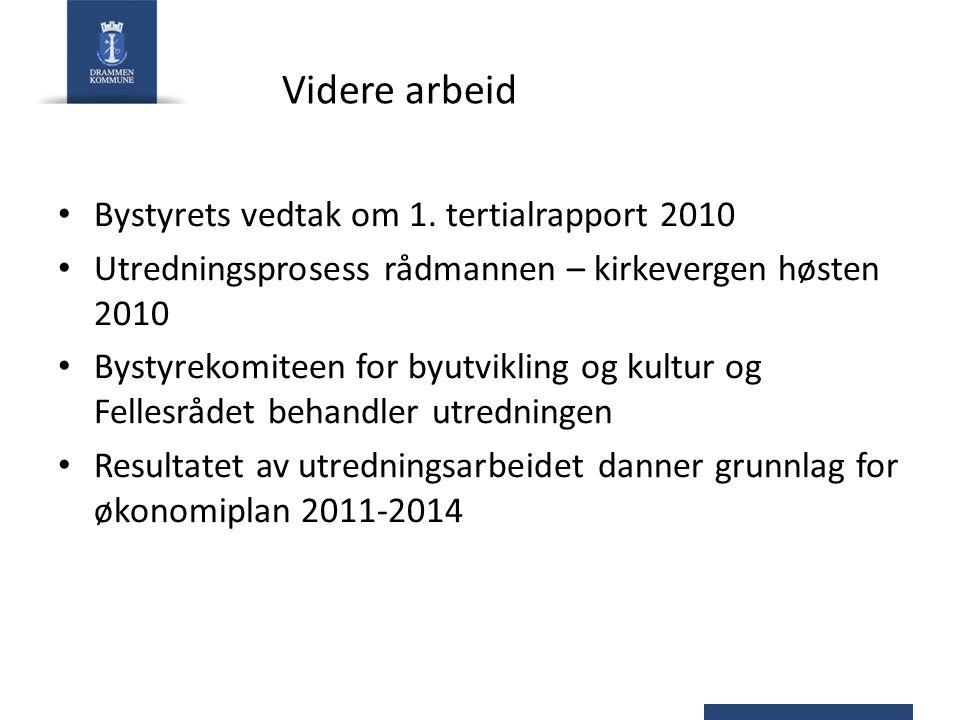 Videre arbeid Bystyrets vedtak om 1. tertialrapport 2010