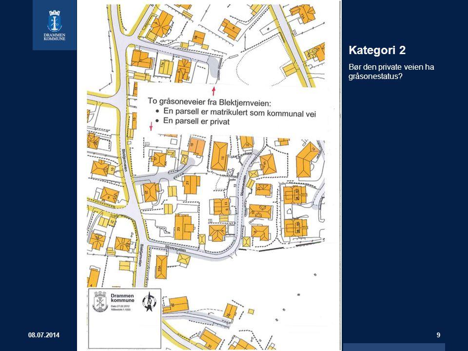 Kategori 2 Bør den private veien ha gråsonestatus 04.04.2017
