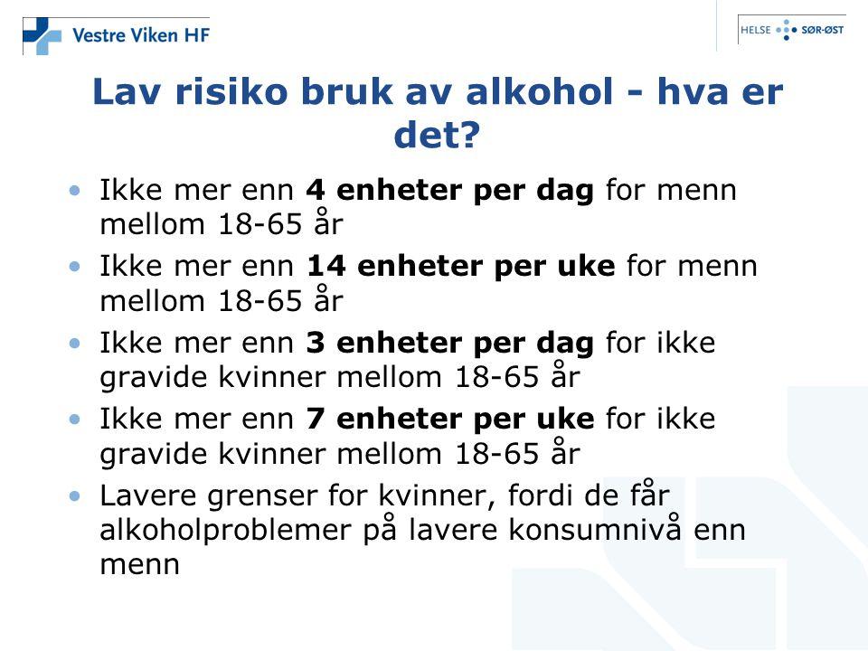 Lav risiko bruk av alkohol - hva er det