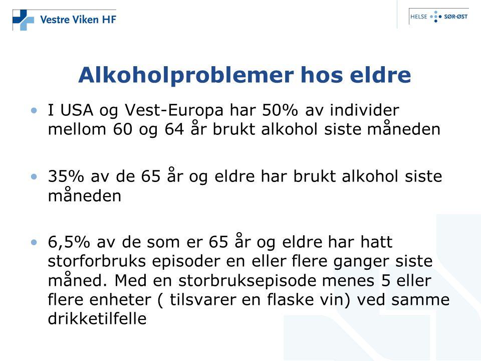 Alkoholproblemer hos eldre
