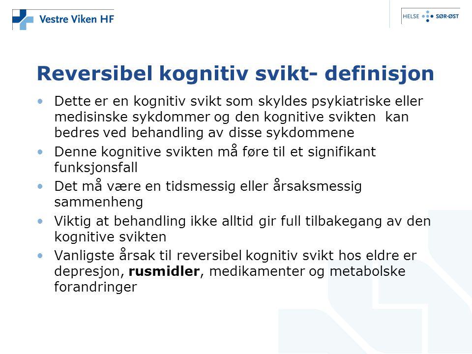 Reversibel kognitiv svikt- definisjon