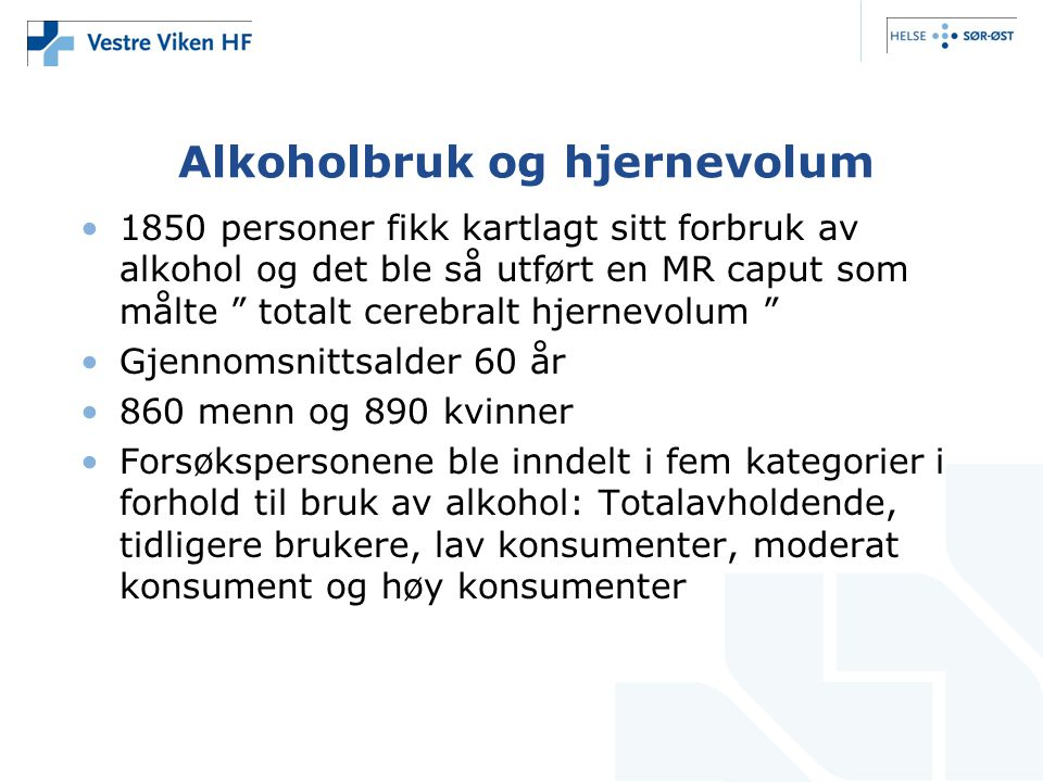 Alkoholbruk og hjernevolum