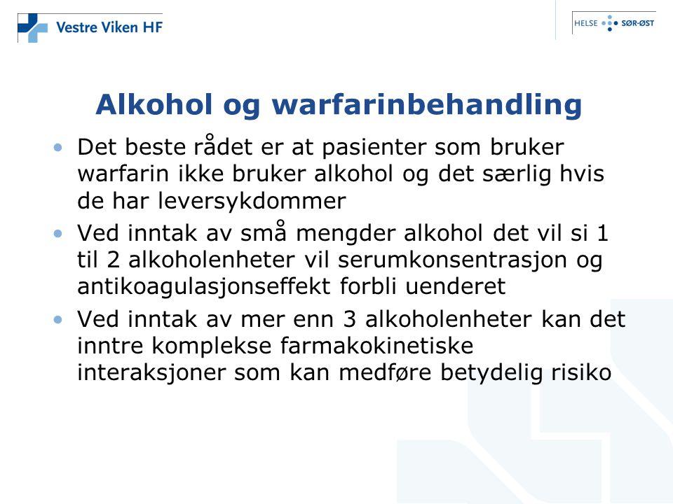 Alkohol og warfarinbehandling