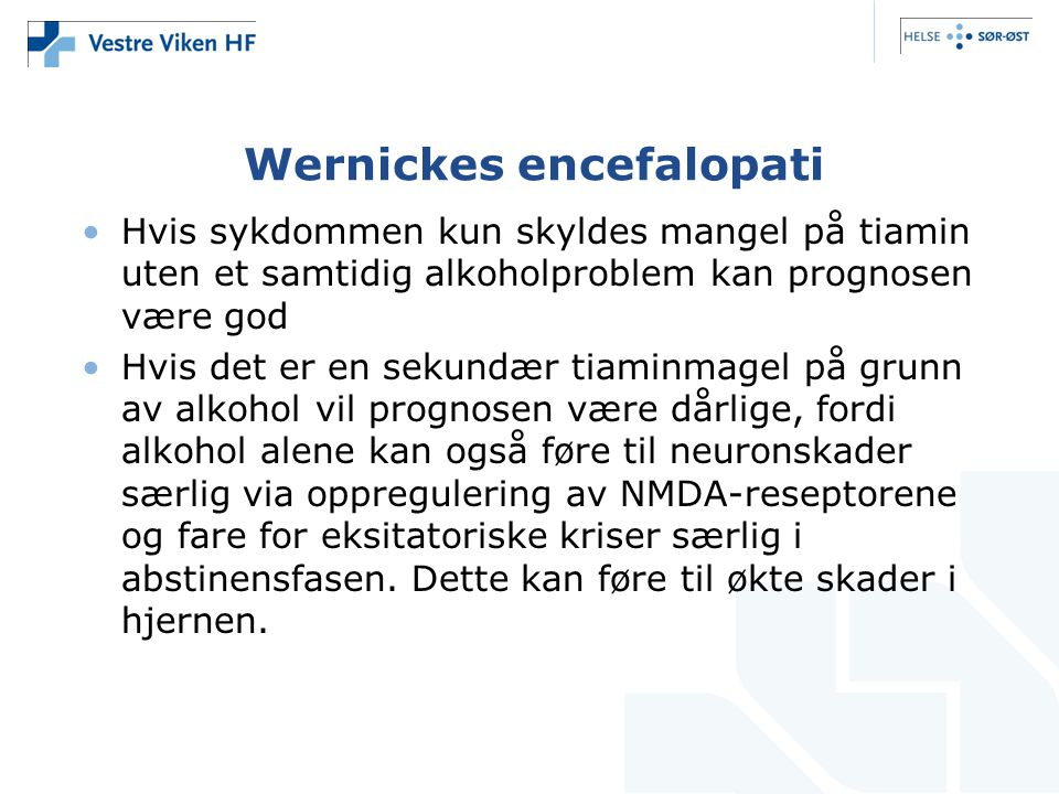 Wernickes encefalopati