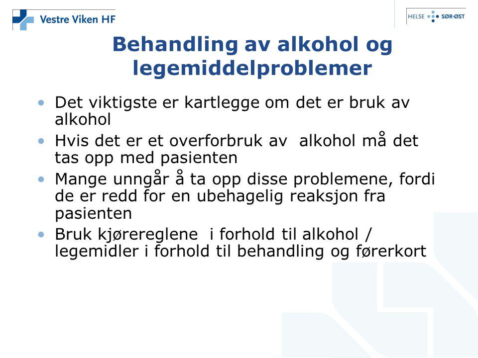 Behandling av alkohol og legemiddelproblemer