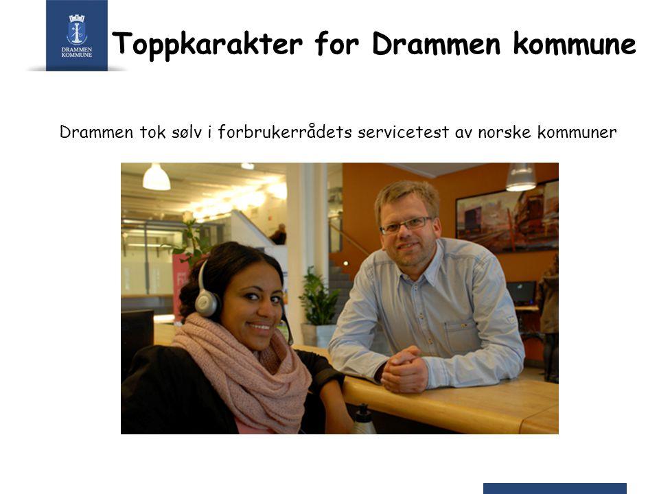Toppkarakter for Drammen kommune