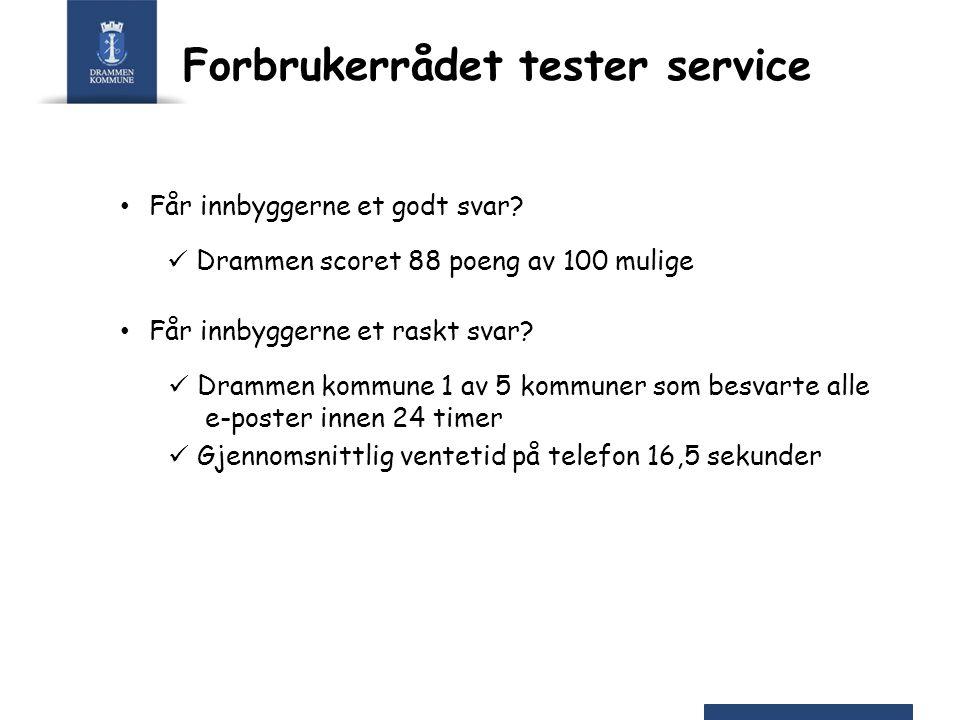Forbrukerrådet tester service