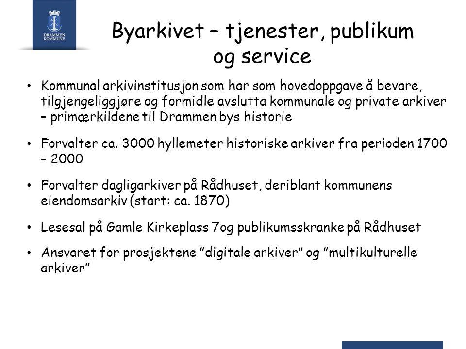 Byarkivet – tjenester, publikum og service