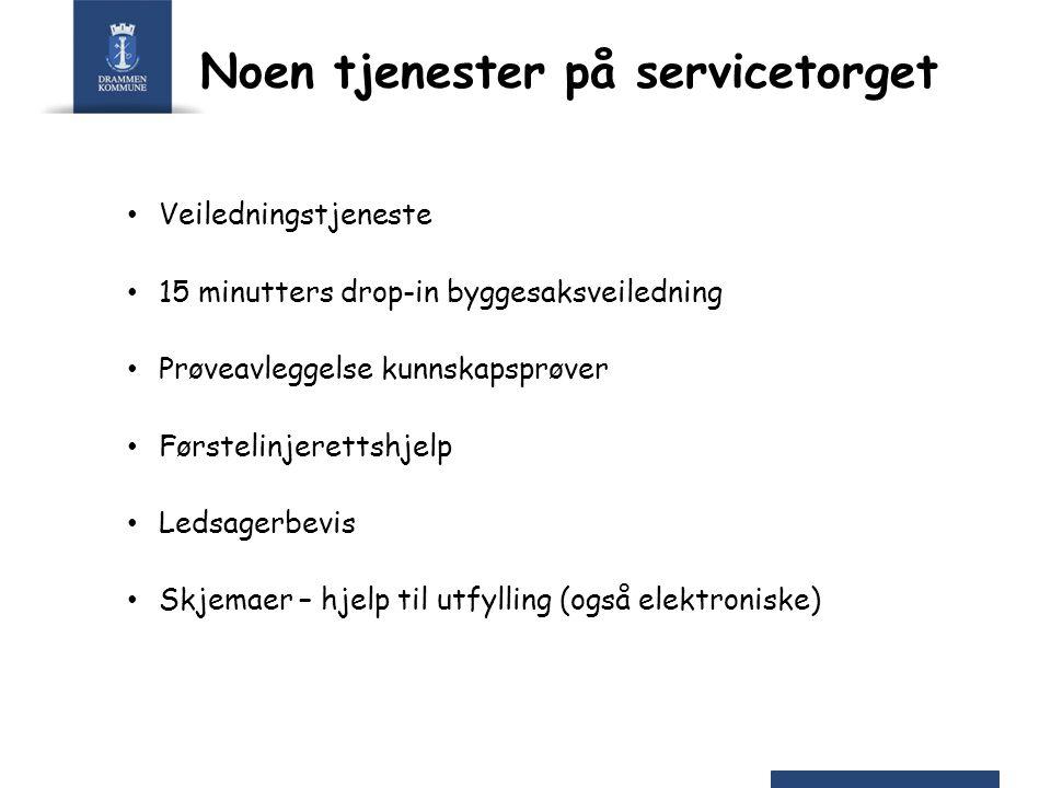 Noen tjenester på servicetorget