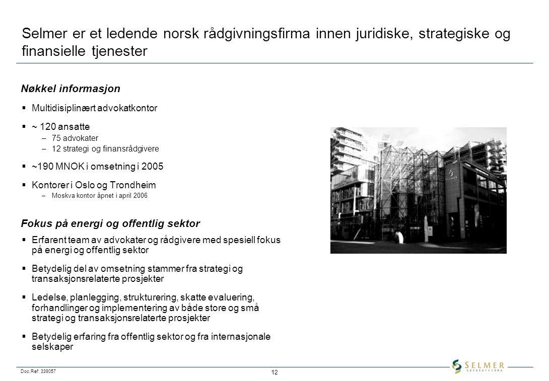 Selmer er et ledende norsk rådgivningsfirma innen juridiske, strategiske og finansielle tjenester