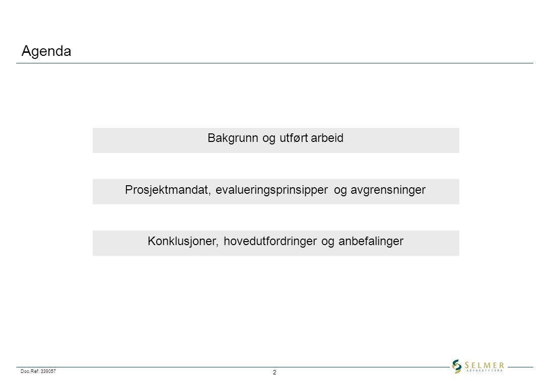Agenda Bakgrunn og utført arbeid