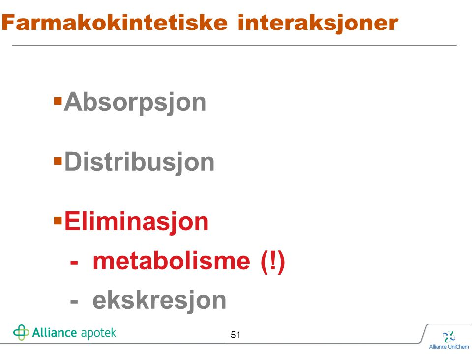 Farmakokintetiske interaksjoner