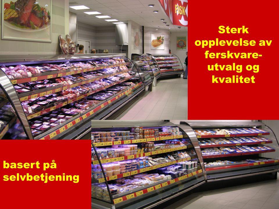 Sterk opplevelse av ferskvare-utvalg og kvalitet